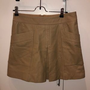 Banana Republic Tan Leather Skirt